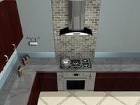 Stove with Oven and Vent