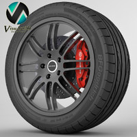 wheel camaro 3d max