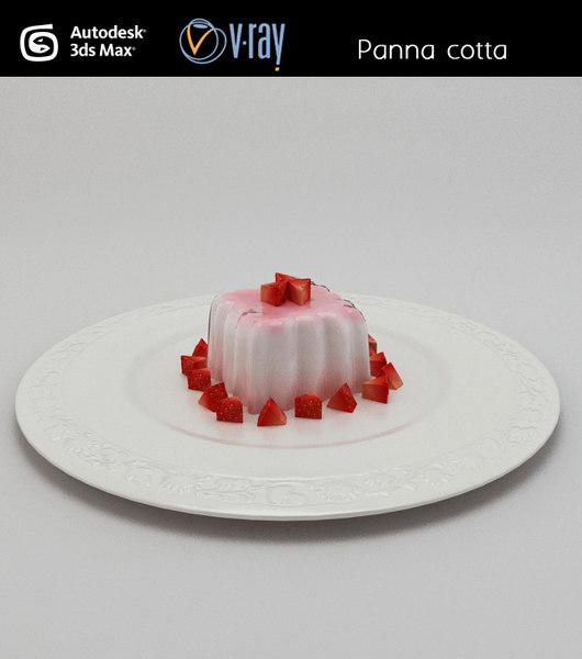 panna cotta pudding obj