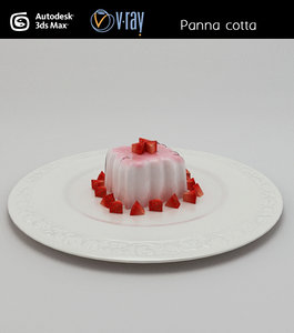 panna cotta pudding obj