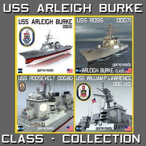uss arleigh burke class 3ds