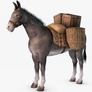 loaded donkey 3d model