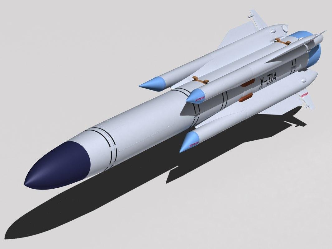 3d model kh-31a missile