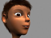3d model boy cartoon character