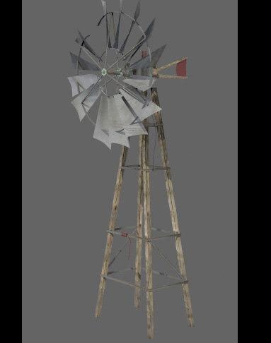 3ds max windmill