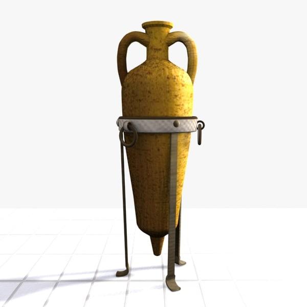 3ds max amphora ornament