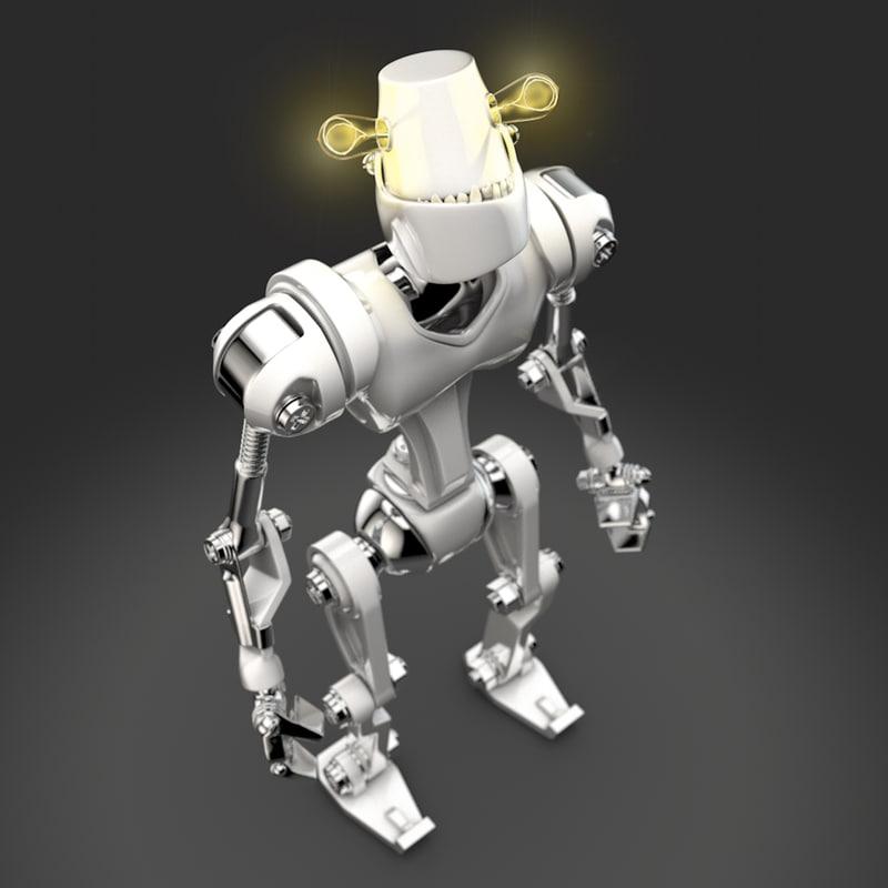 c4d toy robot