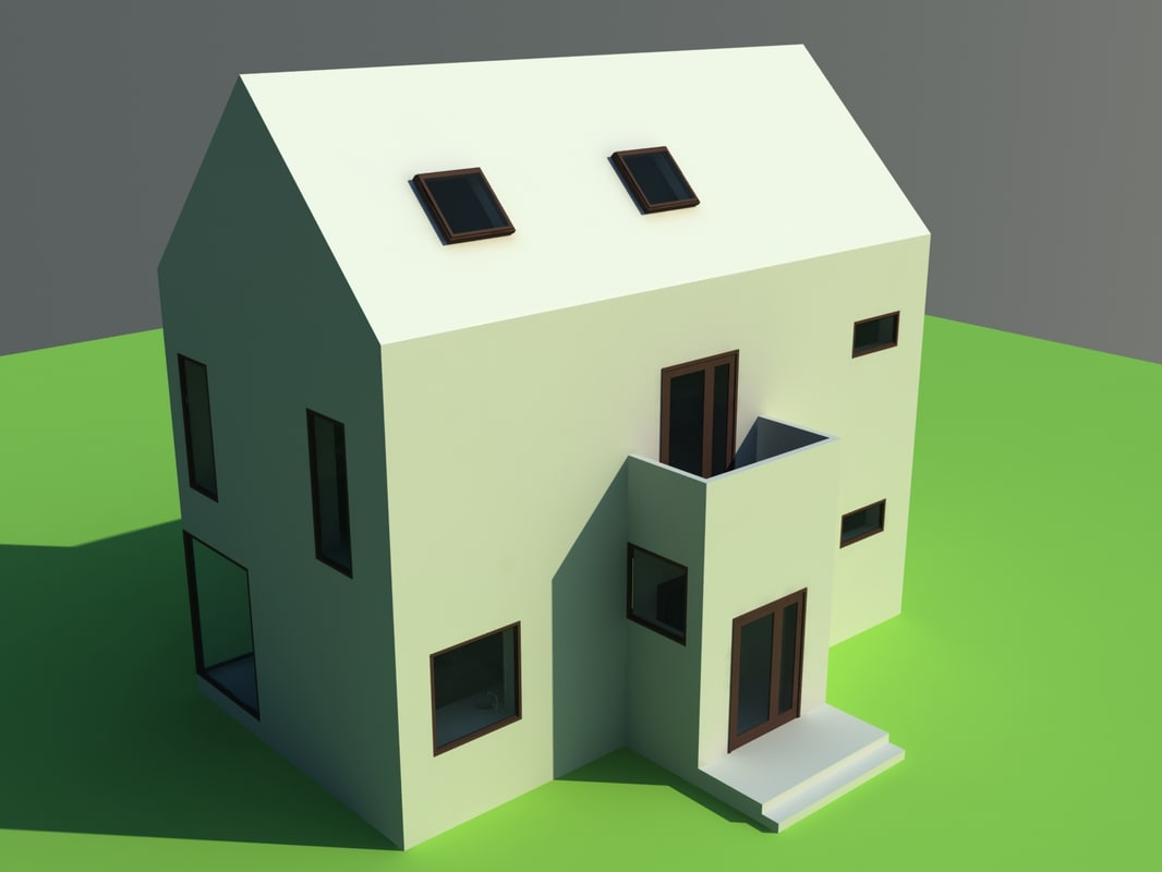 3ds max 2 story house