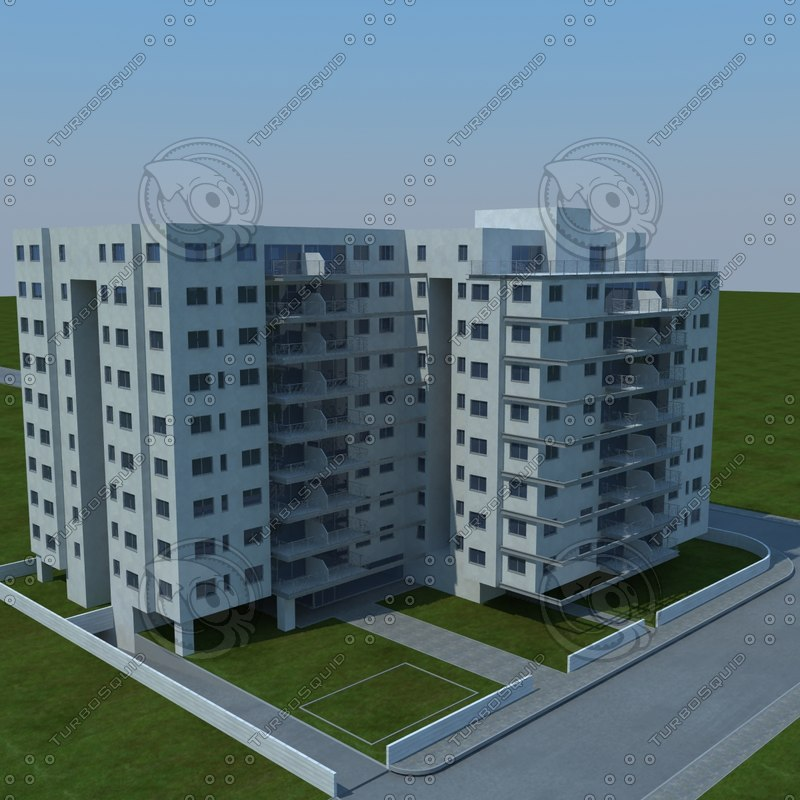 3d model buildings 1 7