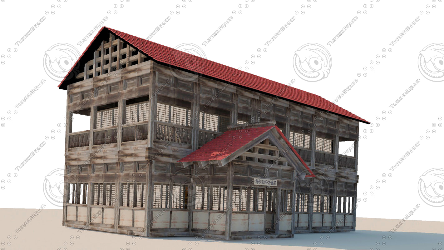 3d model home japanese style