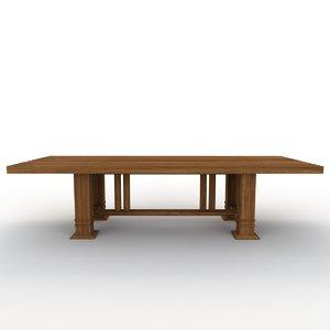 table cassina frank 3d model
