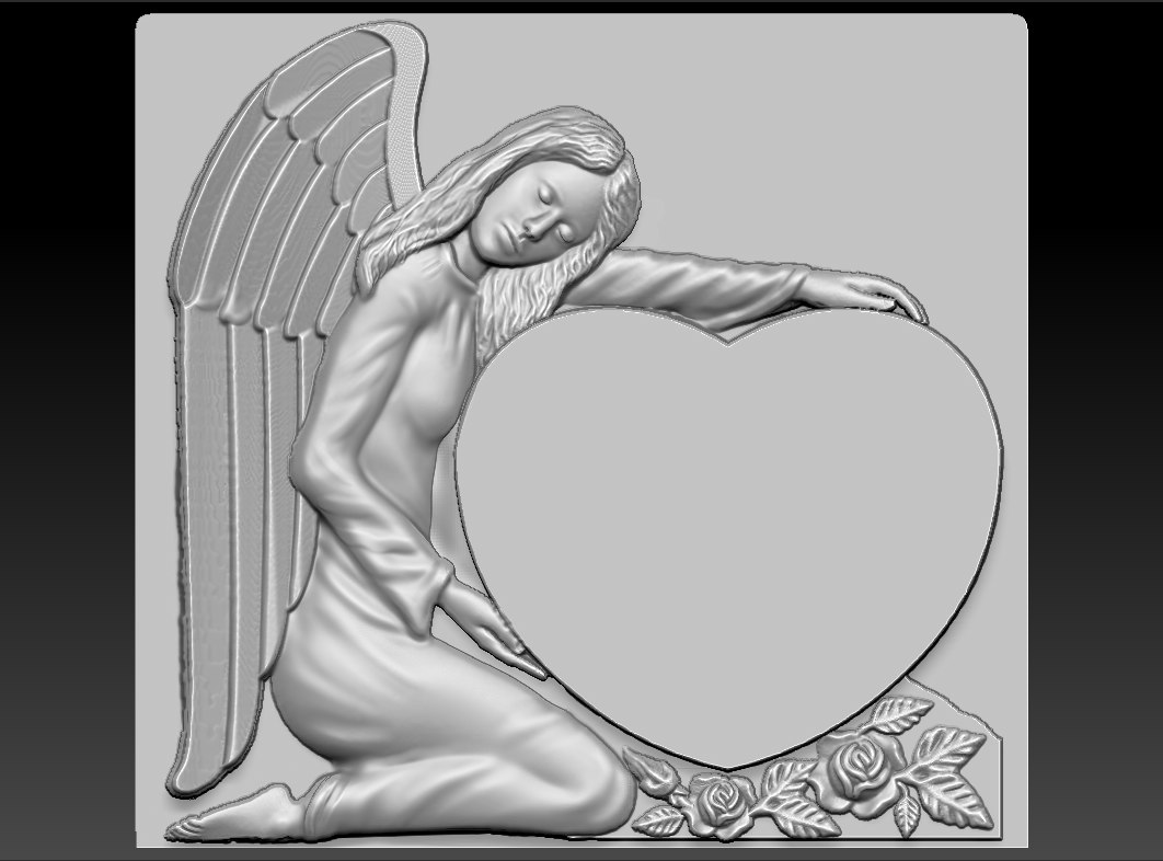3d angel relief cnc