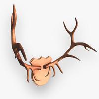 3d deer antlers model