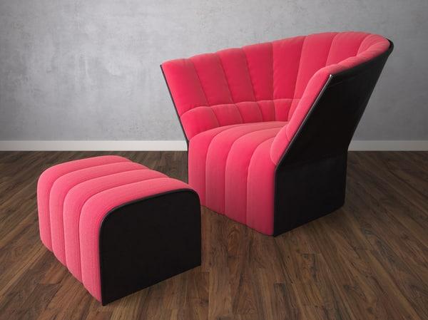 chair armchair ligne obj