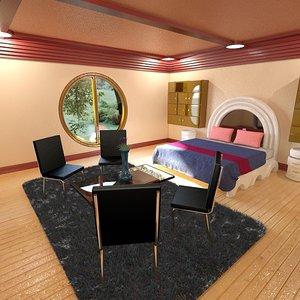 bedroom modeled 3d max