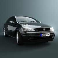 opel astra g car 3d model