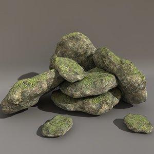 boulder 3d c4d
