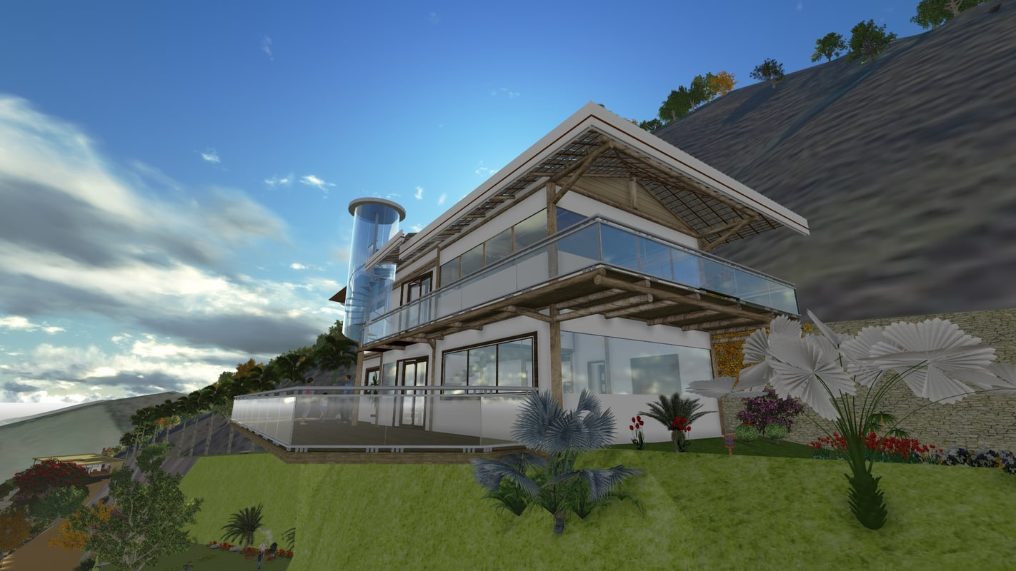 3d model of montain house