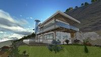 montain house 3d 3ds