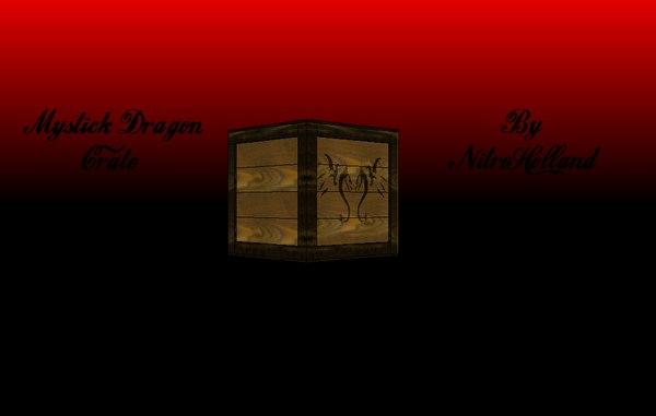 3d model of mystick dragon crate