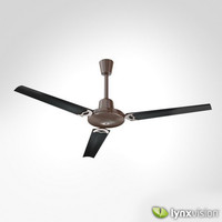 generic metallic ceiling fan 3d model