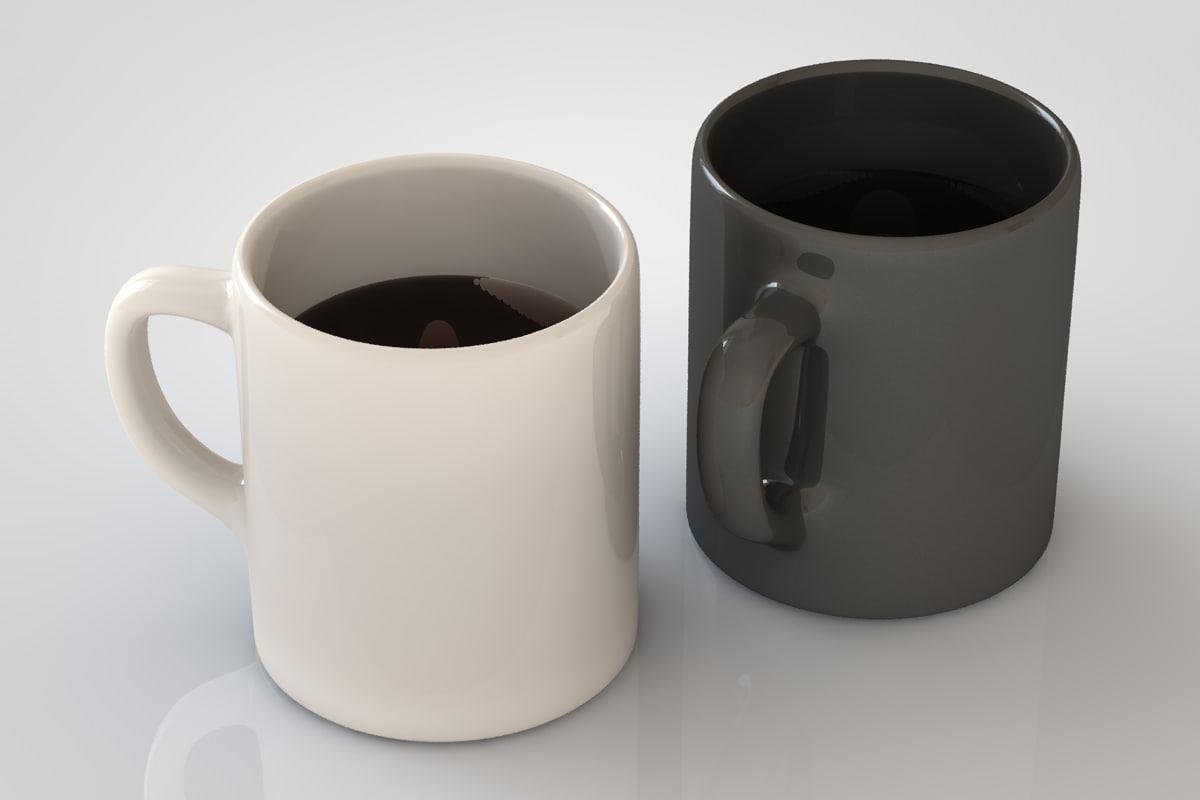 3d coffee mug model