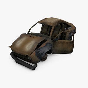 3d model damage car