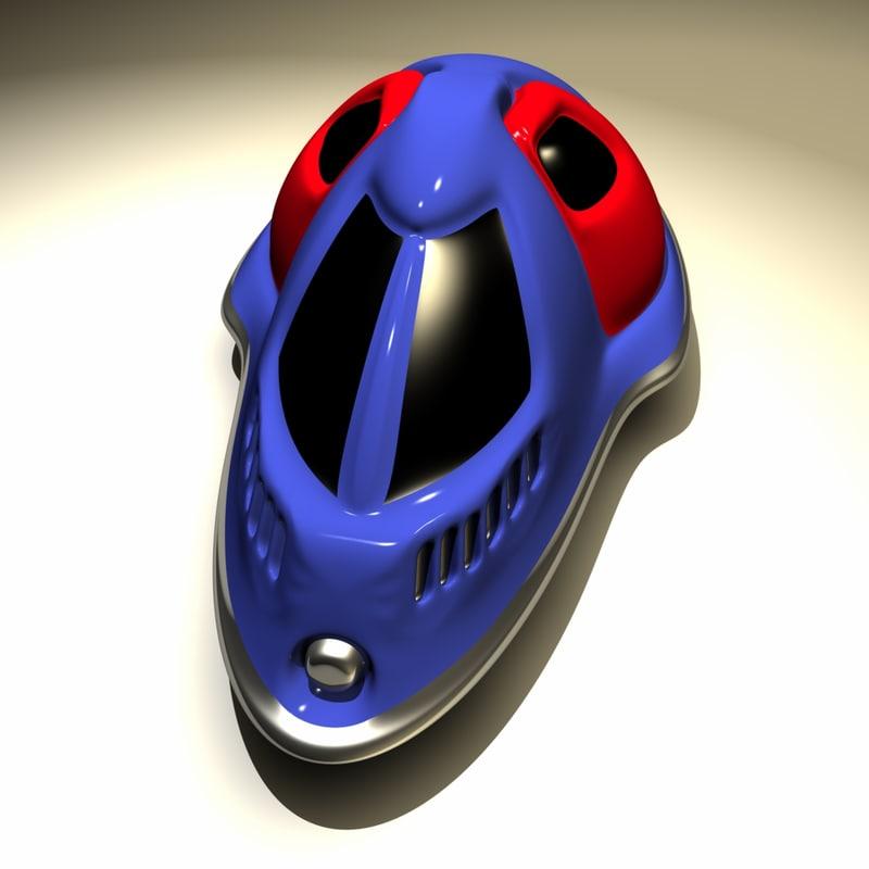 free futuristic hovercraft 3d model