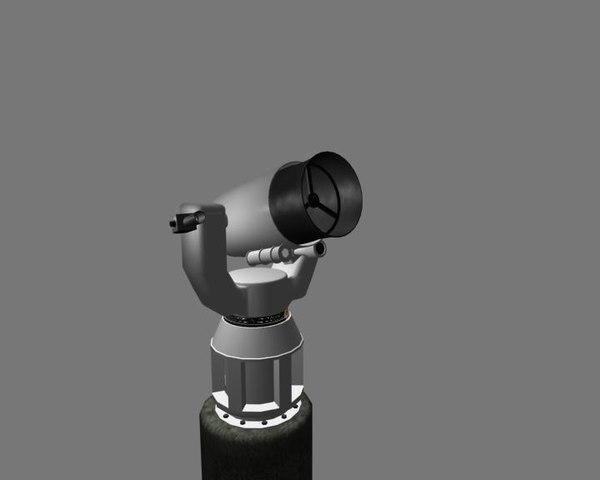 telescope low-polygon unity 3d 3ds