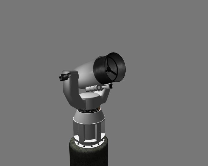 telescope low-polygon unity 3d 3ds