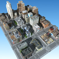 3d city street