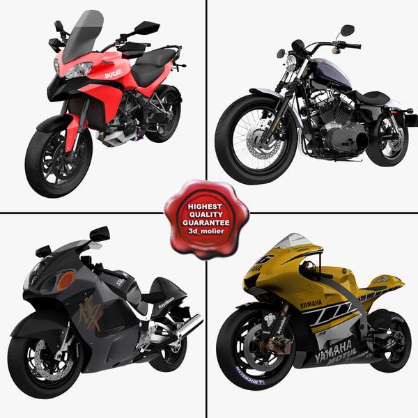 motorcycles 10 3d model