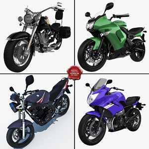 3d model orcycles v4