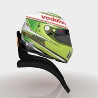 sergio perez 2013 helmet 3d max