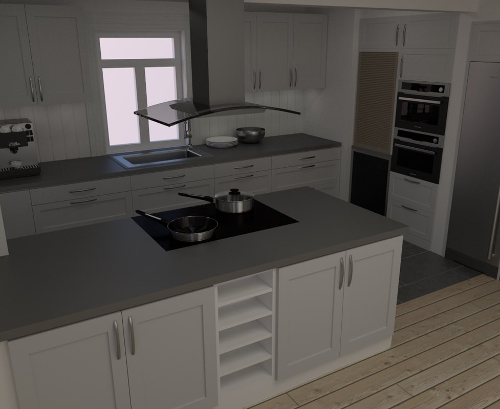 3d kitchen modern style model