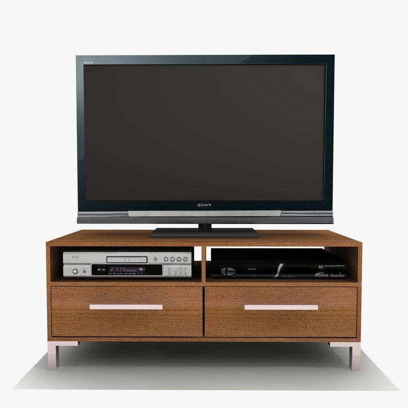 sienna tv cabinet 3d model