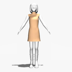 3d woman generic model