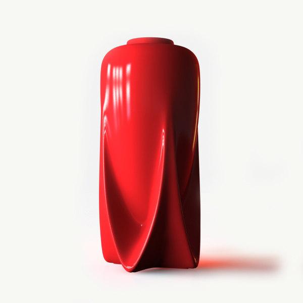 3d teco rocket vase model