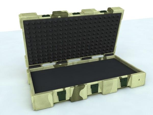 3d model reinforced case weapons