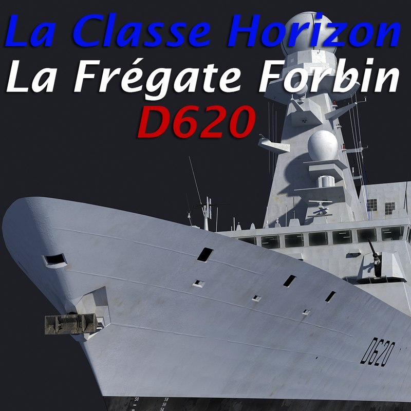 french horizon frigate 3d model