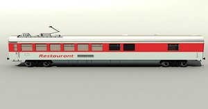 3d model of german ic dining car