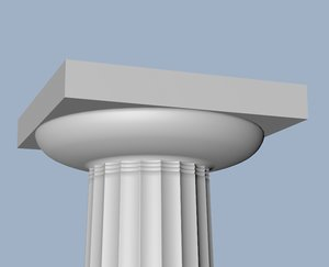 3d ancient greek archaic doric column model