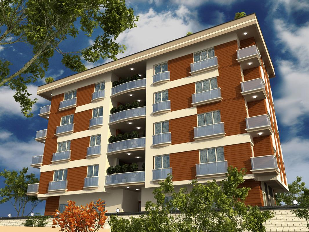 apartment building 1 city 3ds