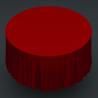 3d table simulated cloth model