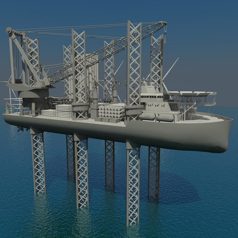 3d turbine installation vessel model