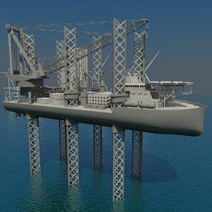 3d turbine installation vessel model