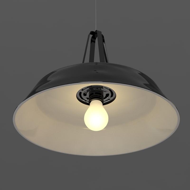 3d model ceiling lightbulb light