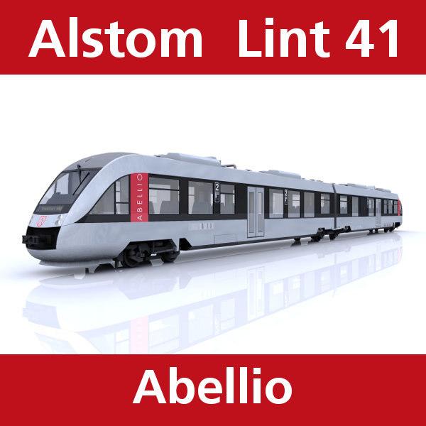3dsmax lint passenger train abellio