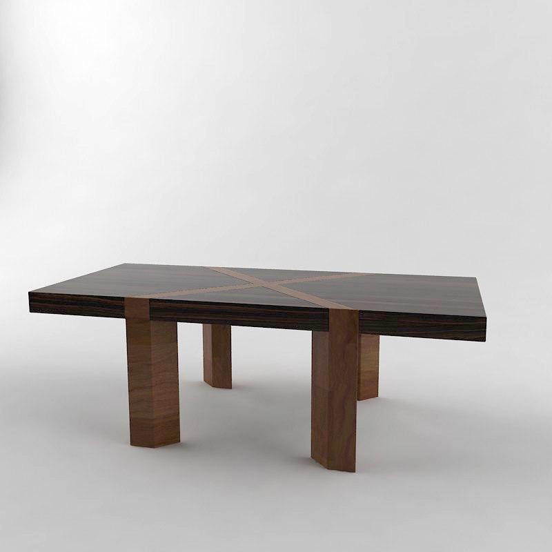 3ds modern wooden stylish