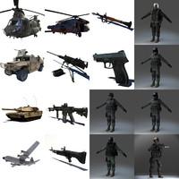 3d model military pack